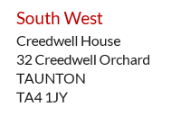 UK Mailing address in Taunton, South West